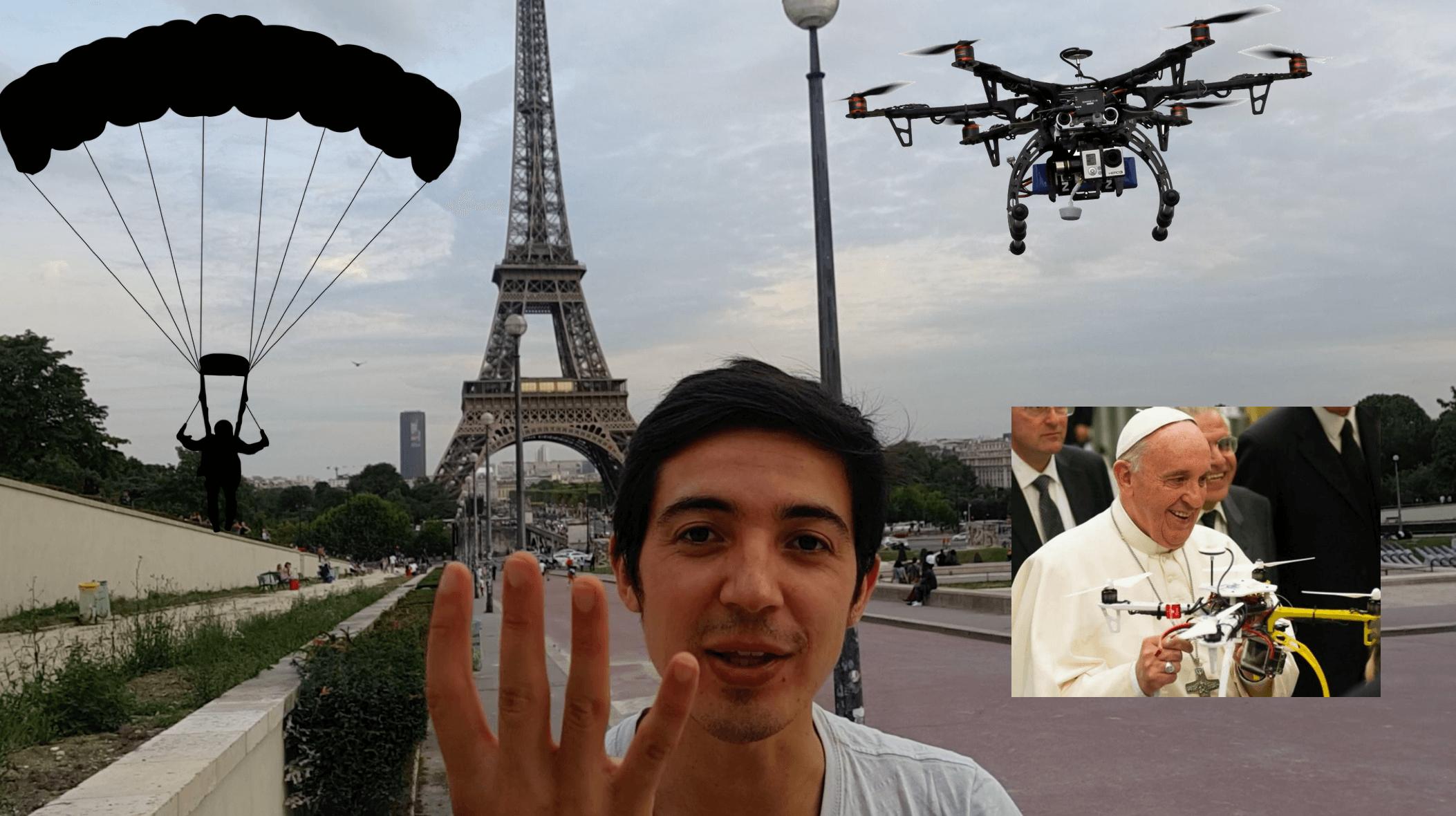 Paracaídas para Drones y la relación de los Drones con el Papa